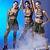 Girl Group Banded Cropped Camo Tank Top Halloween Costume