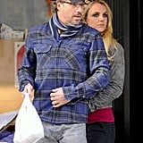 Britney Spears and Jason Trawick surveyed the NYC scene.