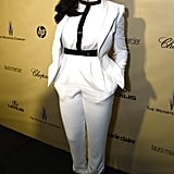 Taraji P. Henson worked a white pantsuit at The Weinstein Company's afterparty.