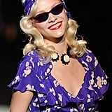 Betsey Johnson's Spring 2012 retro pinups teamed hot-rollered hair with turbans and wraps.
