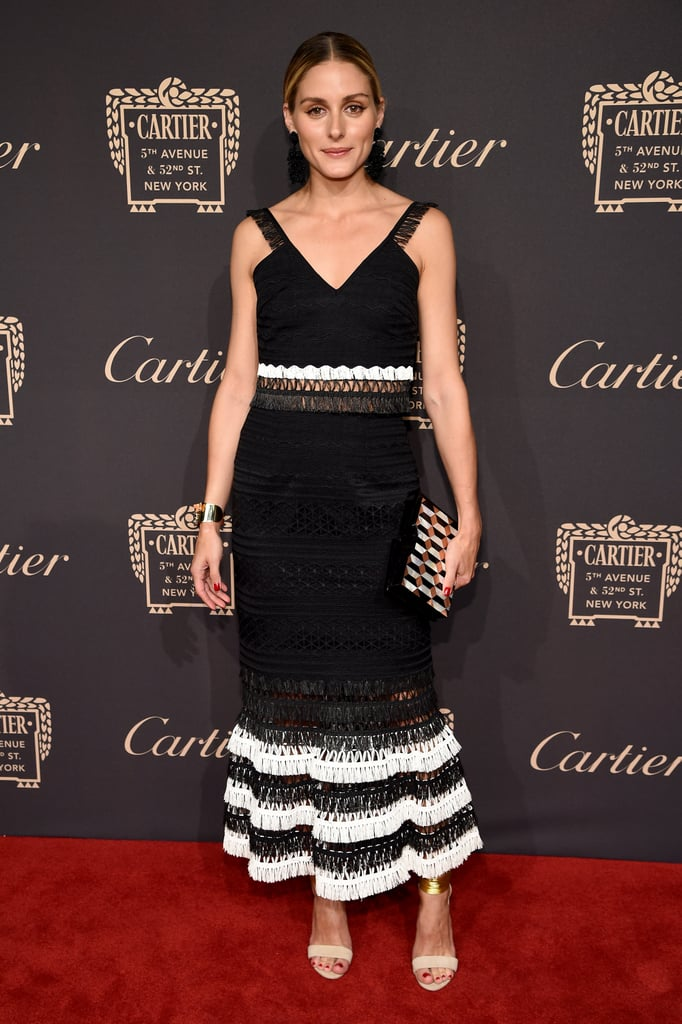 Olivia chose a black and white number from Jonathan Simkhai for a Cartier event in 2016.