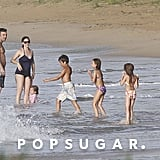 Jennifer Garner, Ben Affleck, Seraphina Affleck, and Violet Affleck all went swimming together in Puerto Rico.