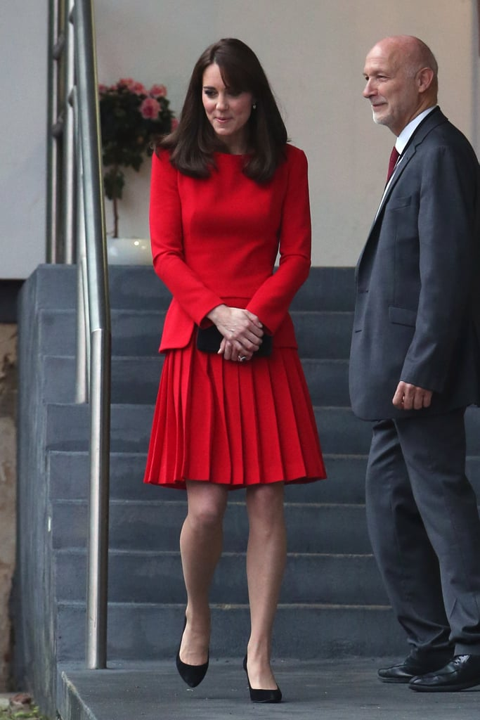 Third Time's the Charm For Kate Middleton in This Festive Red Dress