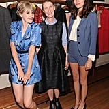 Her pumps added a sweet finish to menswear-inspired shorts suiting at a party for Orla Kiely (pictured in center) for Target.