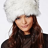 Missguided Faux-Fur Hat White