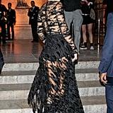 Kendall Jenner's Black Dress in Paris September 2018