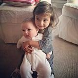 Arabella Kushner got a hold on her baby brother, Joseph, on a cozy Sunday morning. Source: Instagram user ivankatrump