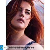 """""""I can finally share my big news!!! I'm now represented by MiLK Management in London. I'm the first plus size model EVER (I die) my size and height to be signed to a major agency!"""""""