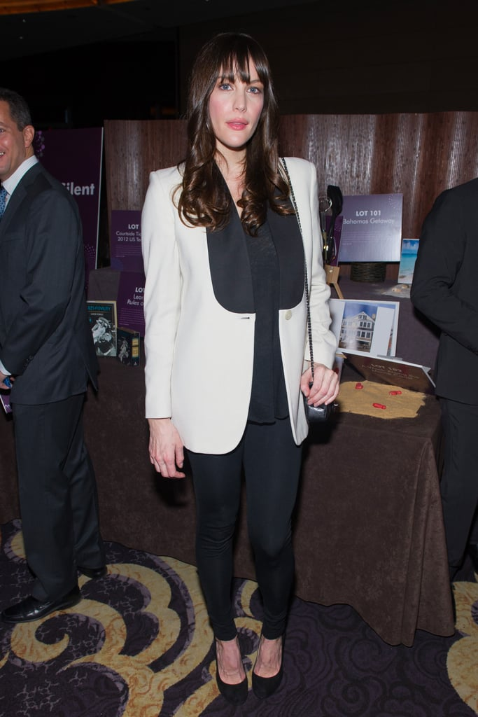 Liv Tyler worked a slick take on the menswear trend.