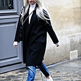 Straight-Leg Jeans + Low Tops