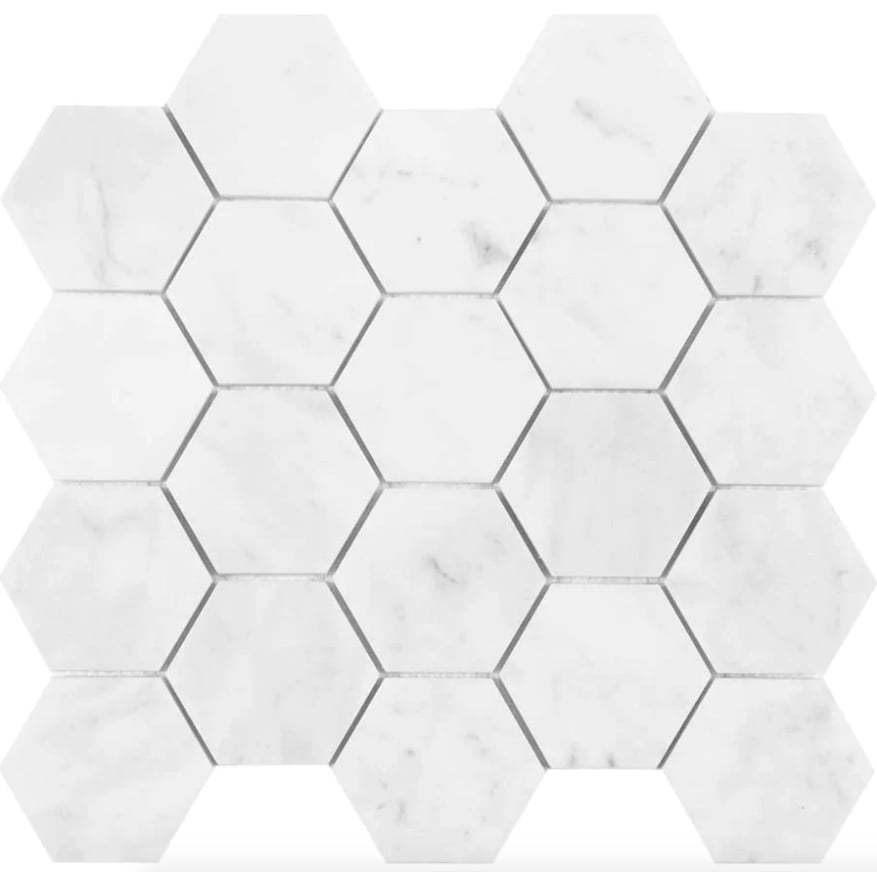 Satori Venatino Polished Natural Stone Marble Hexagon Tile
