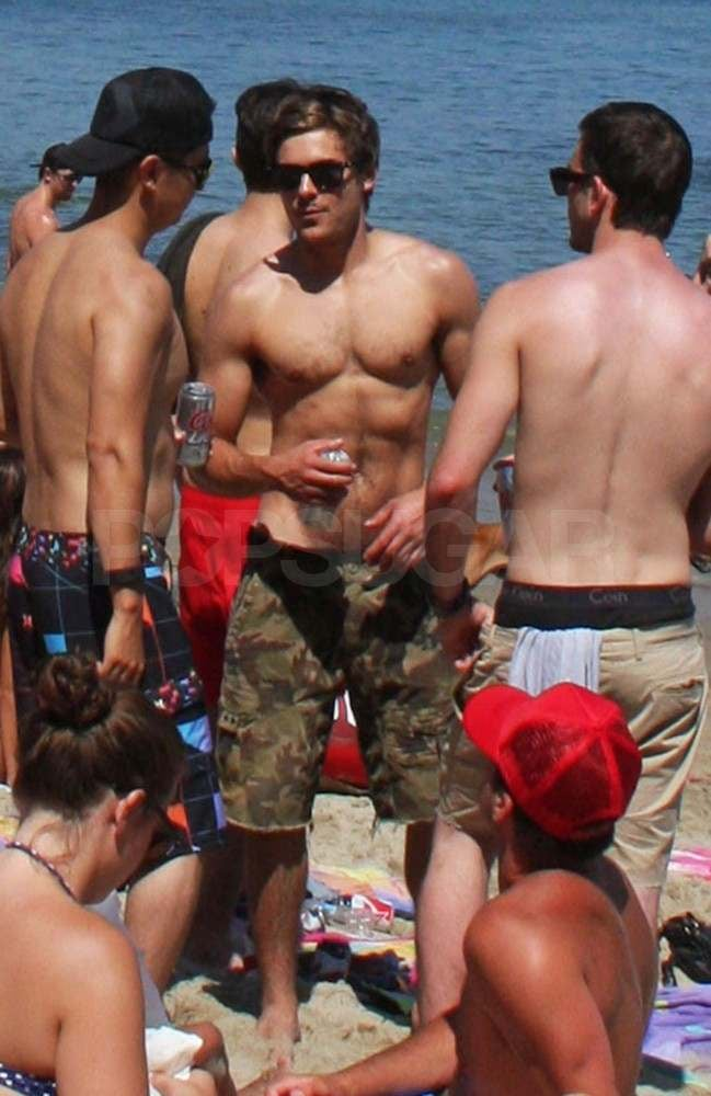 Zac Efron sipped a cold drink while he hung out with friends in Malibu yesterday. Zac Efron was shirtless again after hitting the sand sans top with Ashley Tisdale on Saturday. He was helping Ashley celebrate her 26th birthday, and the former High School Musical costars got playful in the water during the party. Zac's Fourth of July fun also included his male friends, since he was spotted chatting with Brody Jenner and other pals around the holiday. It doesn't look like Brody's girlfriend, Avril Lavigne, was on hand for the bash, but she had her own fun in the sun in St. Tropez last month.