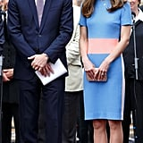 Prince William Complemented Kate's Pastels in Lavender and Blue