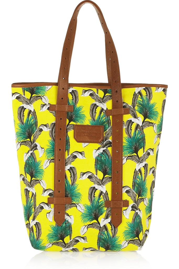 Wear your prints loud and proud — or in this case, in the brightest neon yellows and greens you can imagine. Proenza Schouler Medium Floral Printed Canvas Shopping Tote ($735)