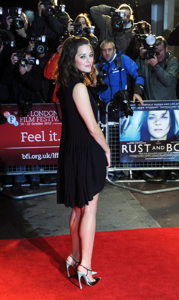 Marion Cotillard stepped out for the premiere of Rust and Bone at the London Film Festival.