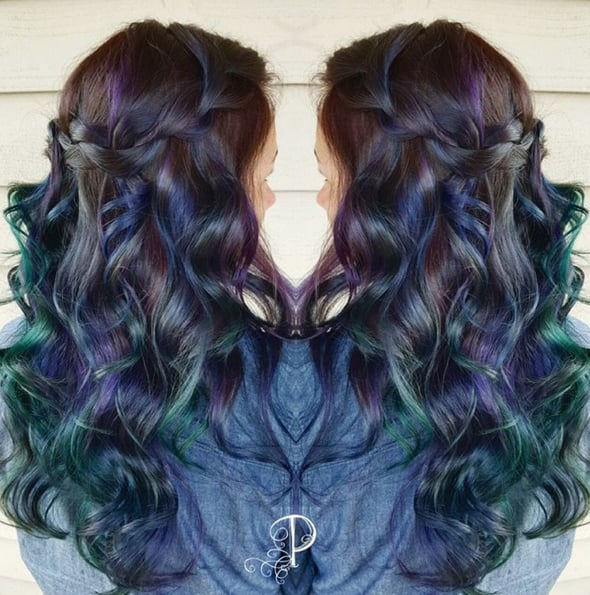 Peacock Hair Color Trend POPSUGAR Beauty - Peacock hairstyle color