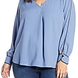 Eloquii 9-to-5 V-Neck Top