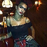Emily Ratajkowski got us into the Halloween spirit with her convincing Frida Kahlo costume. Source: Instagram user emrata