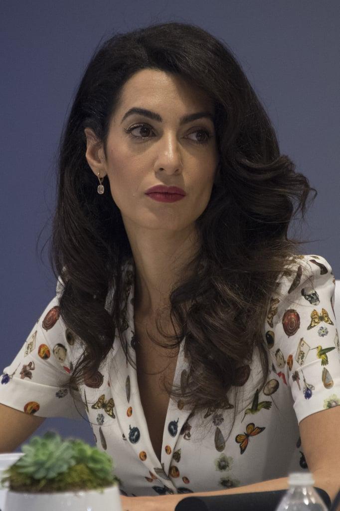 Amal Clooney's Alexander McQueen Dress Sept. 2016