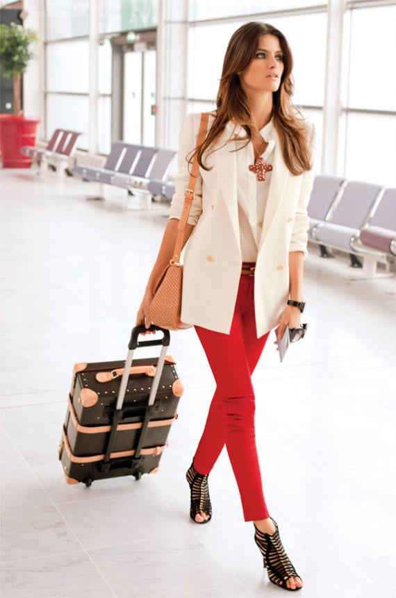 In what is perhaps one of the chicest runs through airport security ever, Isabeli Fontana suits up in Mango's Spring '11 pieces for the label's latest lookbook, shot by Terry Richardson. While we long to appear as effortlessly put-together on our own travel days, we'll happily settle for a few pieces of the bright, floral-and-denim-injected collection. Click to see the gorgeous Isabeli, and the reasons why we're currently coveting a chambray wrap skirt, cropped knits, and a white blazer for Spring.  Source: Isabeli Fontana Delivers Spring With Casual Ease For Mango