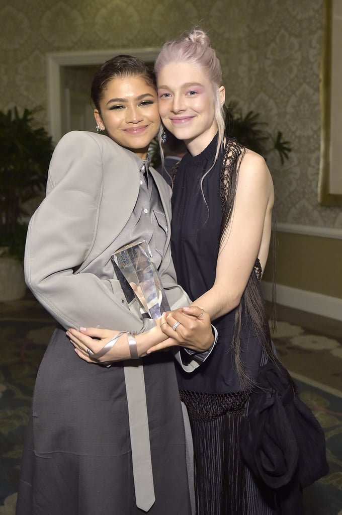"""Zendaya and Hunter Schafer may have an intense, complicated relationship as their characters Rue Bennett and Jules Vaughn, respectively, on HBO's Euphoria, but offscreen, it's a different story. In an interview with W magazine, the 19-year-old model-turned-actress said she and Zendaya """"formed a really special bond"""" while filming the series. """"I'm so thankful,"""" Hunter said. Whether they're goofing off on set or supporting each other at red carpet events, it's clear Zendaya and Hunter have nothing but love for each other.  Luckily for us, we'll get to see more of Zendaya and Hunter when Euphoria returns for season two. Even though we still have no idea when the second season will actually come out, the drama series was renewed back in June. As we wait for more updates, see more of Zendaya and Hunter's adorable friendship ahead!      Related:                                                                                                           Zendaya and Jacob Elordi Reportedly Went on a Movie Date Amid Romance Rumours"""