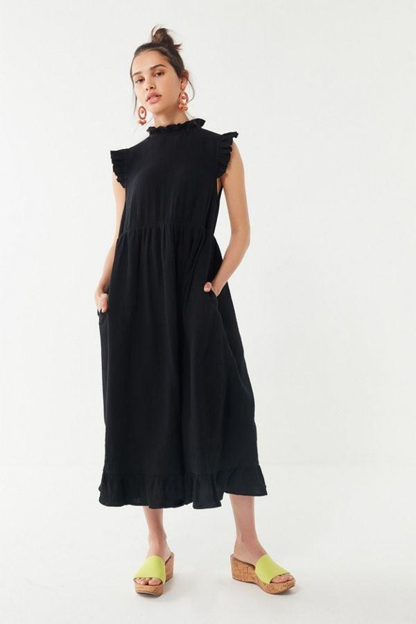 bc86f5d39c5b9 UO Gabby Ruffle Babydoll Midi Dress | Best Travel Dresses | POPSUGAR ...