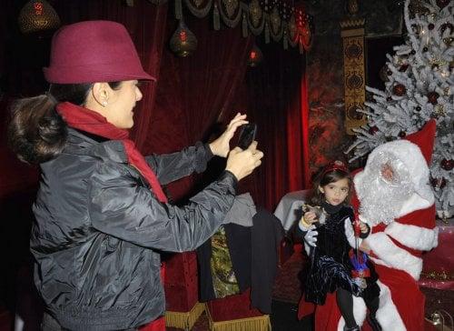 Salma Hayek and Valentina visit Santa in Paris