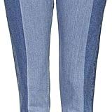 Topshop Moto Laser Panel Straight Leg Jeans ($80)