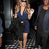 Mariah Carey looked fresh faced during a stop at Craig's restaurant in LA on Thursday.