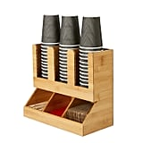 Mind Reader Six Compartment Upright Coffee Condiment and Cups Organizer