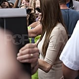 Angelina Jolie attracts a crowd.