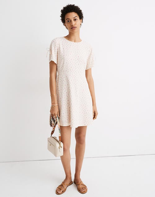 Madewell Tie-Sleeve Retro Dress in Dutch Dandelions