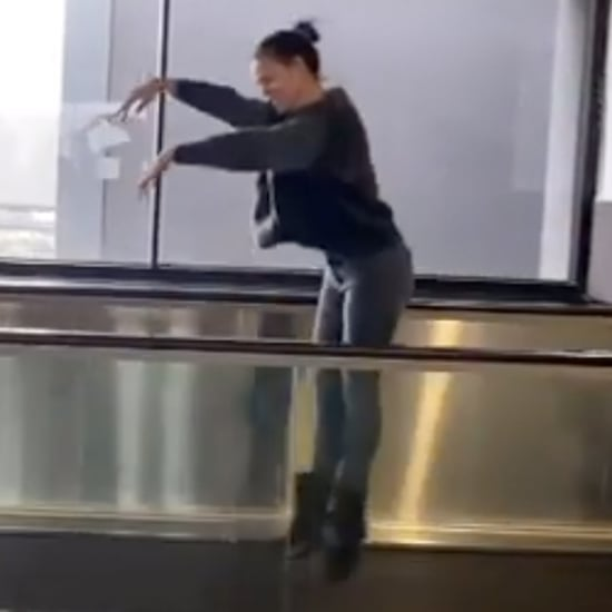 Jennifer Garner Dancing Ballet at SFO Airport | Video