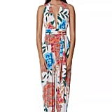 """Guests will """"ooh"""" and """"ahh"""" over the shimmering details on Mara Hoffman's Wrap Top Jumpsuit ($325), which can easily be styled with espadrilles or flat sandals."""