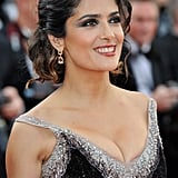 Salma Hayek lit up the carpet in Cannes.