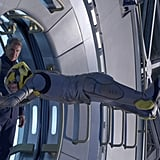 Harrison Ford as Colonel Graff and Asa Butterfield as Ender Wiggin in Ender's Game.