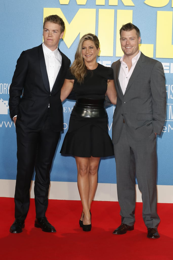 Jennifer Aniston posed with her co-stars, Will Poulter and Rawson Marshall Thurber, at their Berlin premiere.
