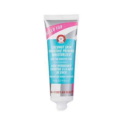First Aid Beauty Coconut Skin Smoothie Priming Moisturiser, $35