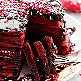 Nutella-Stuffed Red Velvet Pancakes