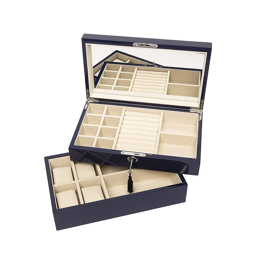 Brouk & Co Women's Stackable Lacquer Jewelry Box and Tray