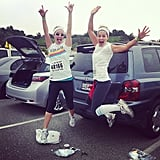 """Candace: """"#BFFs. Best Friends Forever — for you Full House fans! #ColorRun @andreabarber"""""""