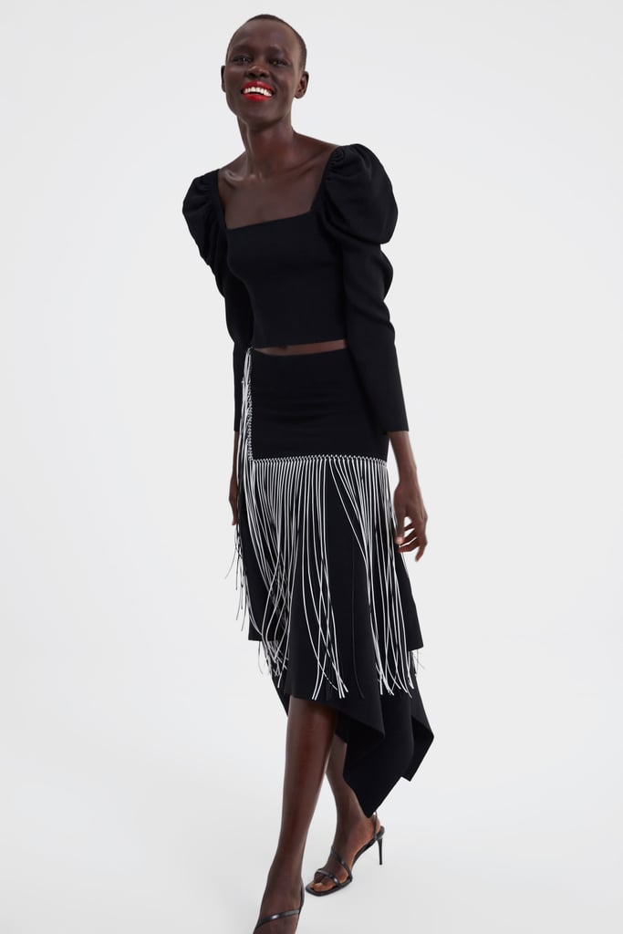 36a768a29a74 Zara Balloon Sleeve Crop Top   Best Things at Zara March 2019 ...