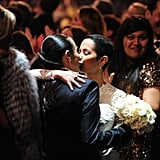 "More than 30 couples wed at the Grammy Awards during Macklemore & Ryan Lewis's performance of ""Same Love."""