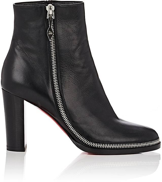 check out 0d758 14f6b Christian Louboutin Women's Telezip Leather Ankle Boots ...