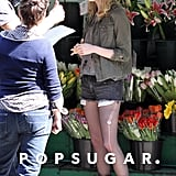 Emma Stone ran lines on the set of Birdman in NYC.