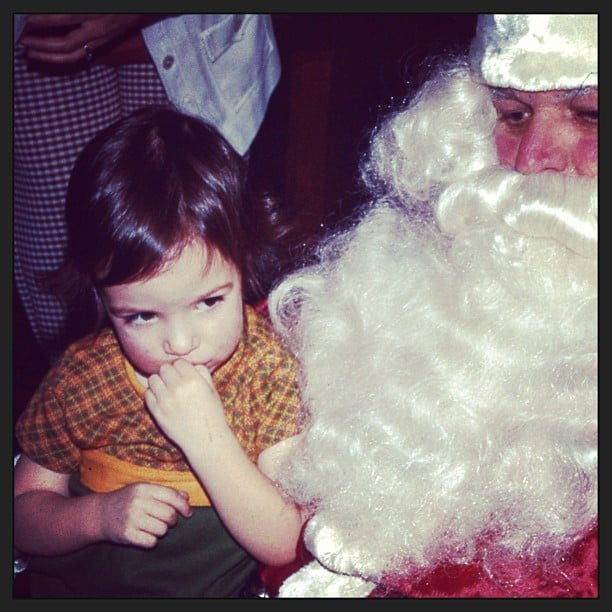 Catt Sadler shared an old snap of herself as a young girl with Santa Claus.  Source: Instagram user iamcattsadler