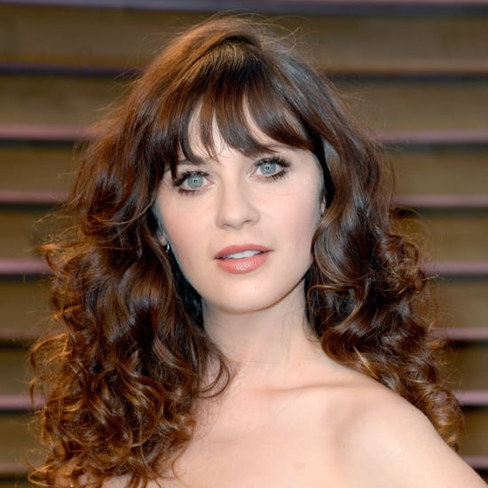 Zooey Deschanel Hair and Makeup at Oscars Party 2014