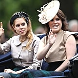 Pictured: Princess Beatrice and Princess Eugenie.