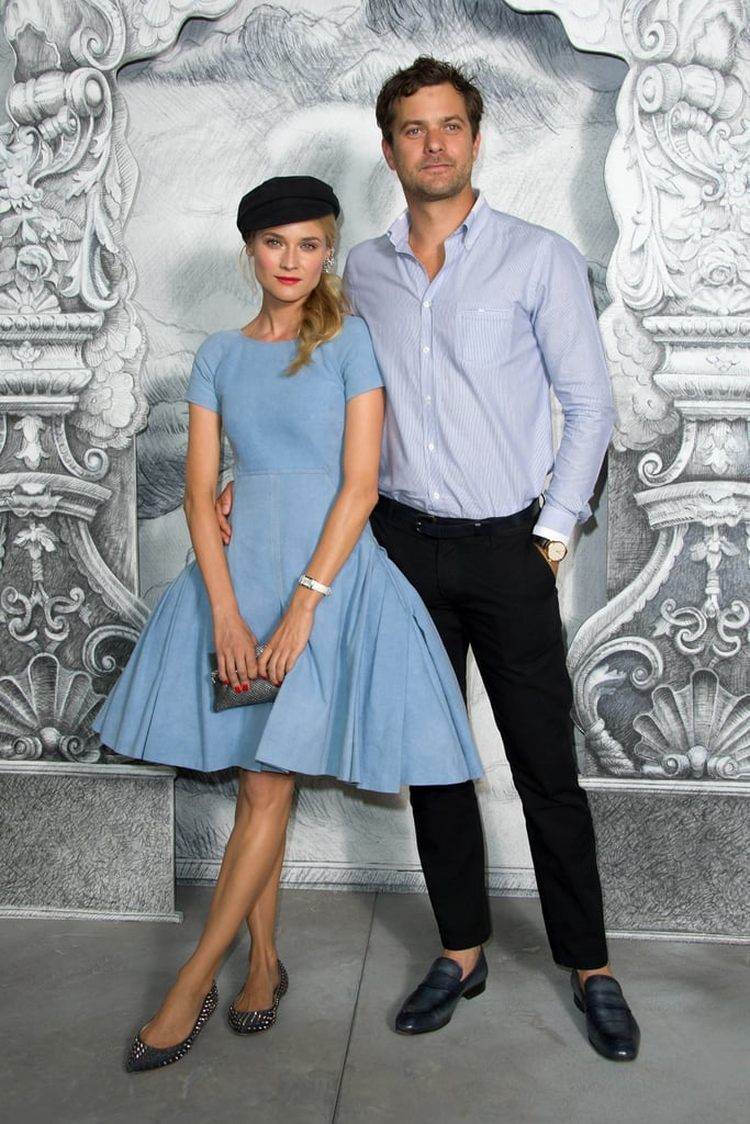 Diane Kruger and Joshua Jackson were the picture of Parisian perfection at the Chanel Haute Couture show in France today. The event — which is part of Paris Fashion Week, now in progress — took place at the Grand Palais. Diane kept things interesting with her accessories — studded flats and a black cap — and kept handsome Josh on her arm while they posed. Other celebrities at the show included Clémence Poésy, Leslie Mann, Milla Jovovich, and more. Josh and Diane are coming off a decidedly less glamorous, but just as fun weekend. Josh and Diane were in the stands for the Eurocup final in Kiev, Ukraine, on Sunday. The pair were just as animated as the fans surrounding them as they all cheered on the history-making Spain team.