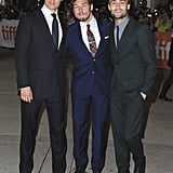 Max Irons, Sam Claflin, and Douglas Booth